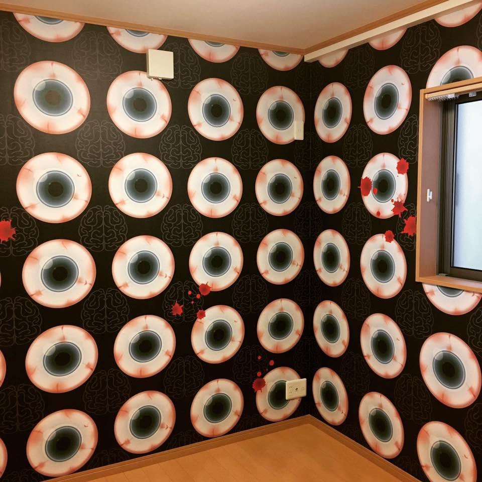 中西怪奇菓子工房。壁紙デザイン